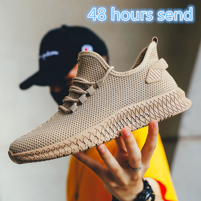 2020 Hot Sale Men Sneakers Black Air Mesh Breathable Sport Casual Shoes For Male Lace Up Non-slip Men Low Athletic Sneakers