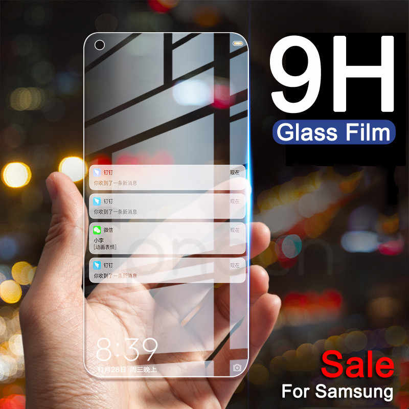 Tempered Glass For Samsung Galaxy A30 A50 Screen Protector Protective Film on A10 A20 A40 A60 A70 A80 A90 M10 M20 M30 M40 Glass