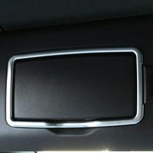 Araba Ön Kozmetik Ayna Çerçevesi Dekorasyon Kapak Trim 2 Adet ABS Mercedes Benz Için Bir B C E Sınıfı GLC ML GLE GLA CLA