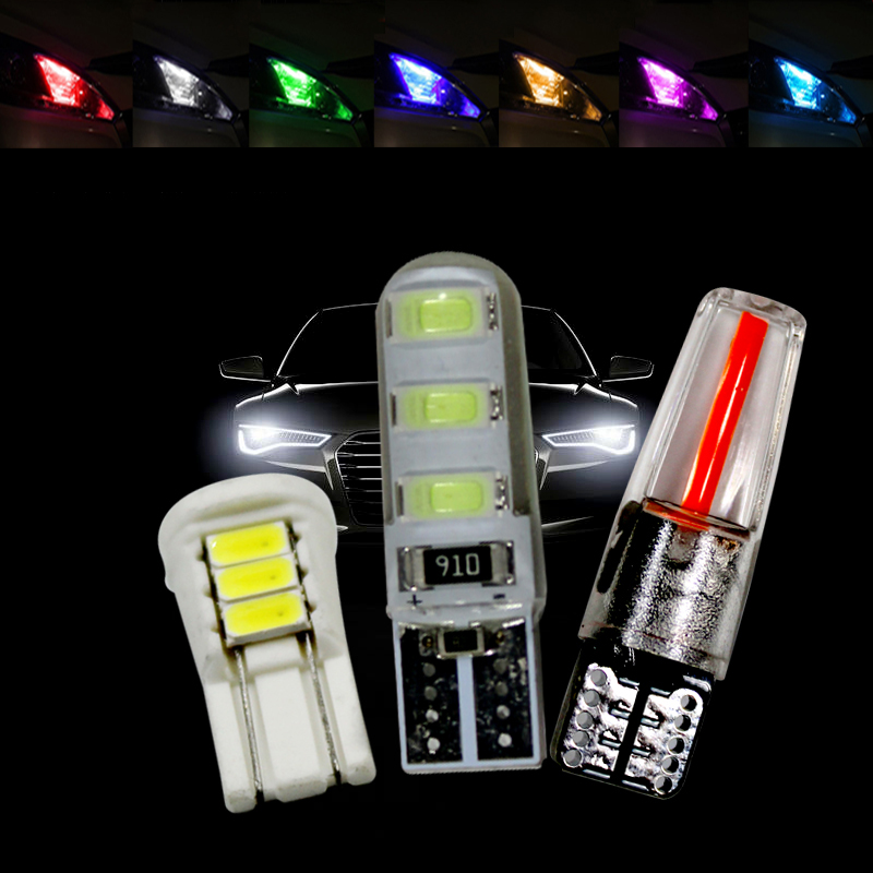led Cars bulbs T 10 12v W5 W white ice blue purple yellow blue green red parking light dome reading light led lamp image