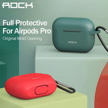 ROCK Silicone Protective Case for Airpods Pro Separate Design Ultra Slim Wireless Bluetooth Earphone Case for Apple Airpods Case(China)