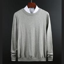 חדש סרוג איש סוודר משולש אופנה גברים מזדמן כותנה סתיו Mens סוודרים מזויף חולצה צווארון להתחמם חורף למשוך Hommeסוודרים