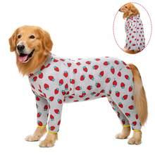 Miaododo-vêtements en coton pour chiens de grande taille, pyjama pour chiens moyens, combinaison 2020 pour hommes et femmes, couvert entièrement le ventre