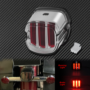 Image 3 - Motorcycle Red LED Tail Light Smoke/Chrome Lens Rear Brake Stop License Plate Lamp For Harley Softail Touring Dyna Sportster XL