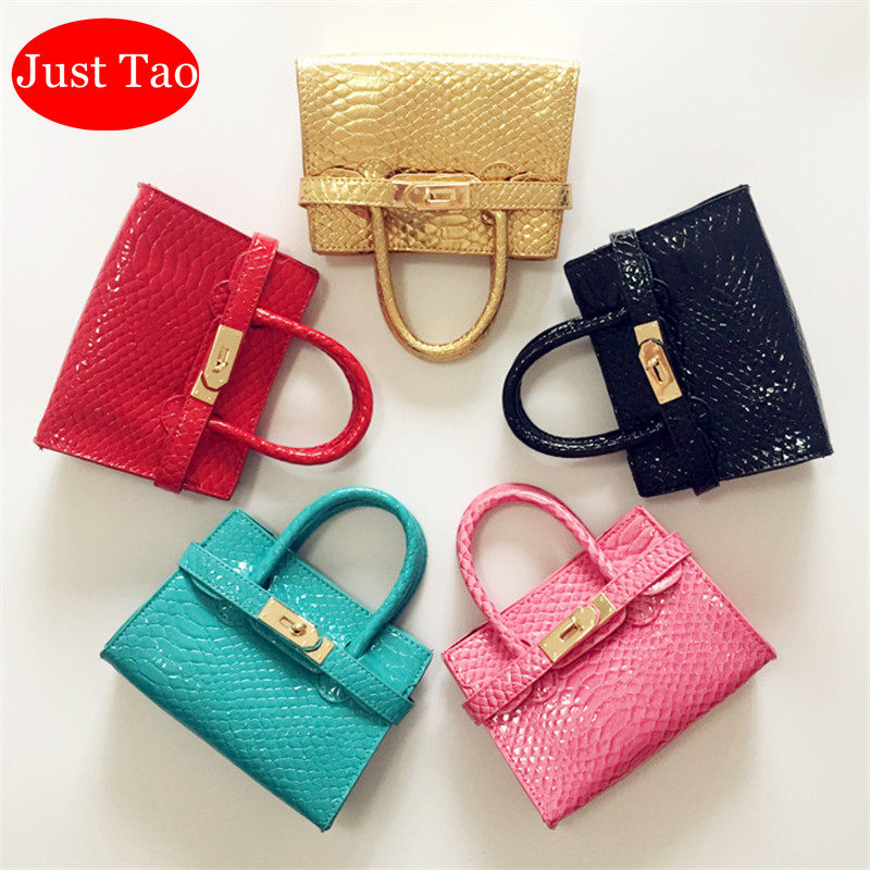 Just Tao! Kid Bag 10 Candy Colors Totes For Childrens Baby Girls Brand New Purse Kid Classic Handbags Child Mini Purse JT004