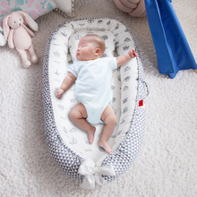 Портативная детская кроватка, Детская Хлопковая колыбель, складные детские кроватки для путешествий, детский шезлонг с принтом в полоску, д...