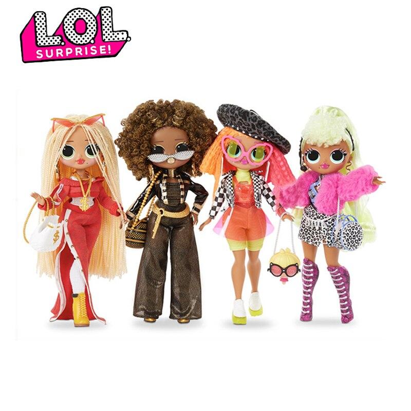 Original LOL Surprise Dolls Toys Winter Disco OMG Series Beauty Fashion Model Doll DIY Dressing Up Set Girl Toys For Kids Gifts