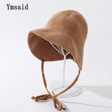 Fisherman Hat Bucket-Hat Girl Rsolid-Color Winte Fashion Women's Warm Wool Dome Autumn