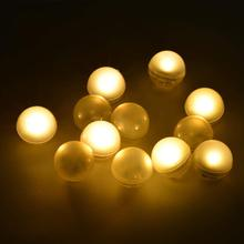 12Pcs/lot Floating ball Submersible LED Lights IP68 Waterproof MultiCo