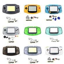 Nouvelle coque de boîtier complet pour étui rigide de coque Gameboy GBA avec remplacement de lentille décran pour boîtier de Console Gameboy Advance