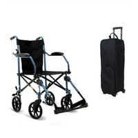 Wheelchair folding lightweight small old people wheelchair portable trolley travel ultra light elderly disabled people to help t