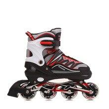 Inline Skates Adjustable Breathable Roller Skates Safety Triple Sealing Layer Kids Rollers on 4 Wheels Ice Skating Roller Shoes