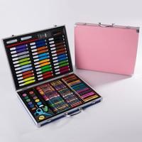 150pcs Birthday Gift Painting Set Children Artist Student Supplies Watercolor Brush School Art Colored Pencils Aluminum Box