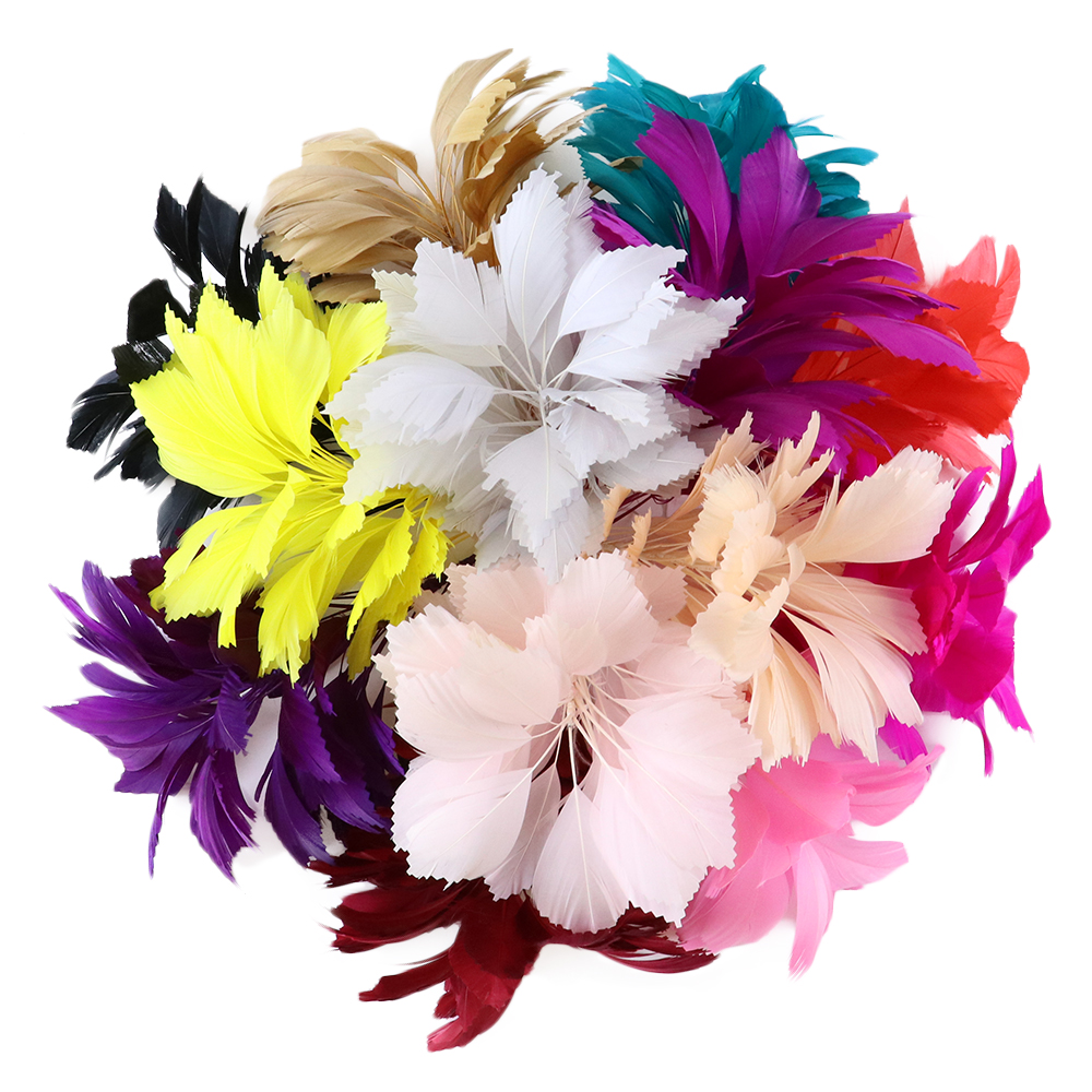 1 Pcs Beautiful Feather <font><b>Fllowers</b></font> Headdress Wedding Party Decoration Supplier Feathers for Crafts image