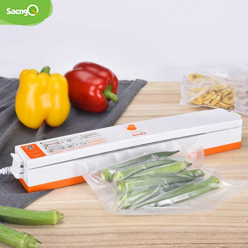 SaengQ elektryczny uszczelniacz próżniowy pakowarka do kuchni domowej w tym 15 sztuk torby do przechowywania żywności komercyjne próżniowe uszczelnienie żywności