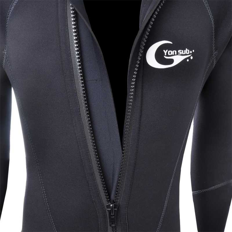 Yon alt L 5mm kış sıcak neopren tüplü dalış giysisi 5mm erkek kaput sörf ön fermuar şnorkel Spearfishing dalgıç kıyafeti