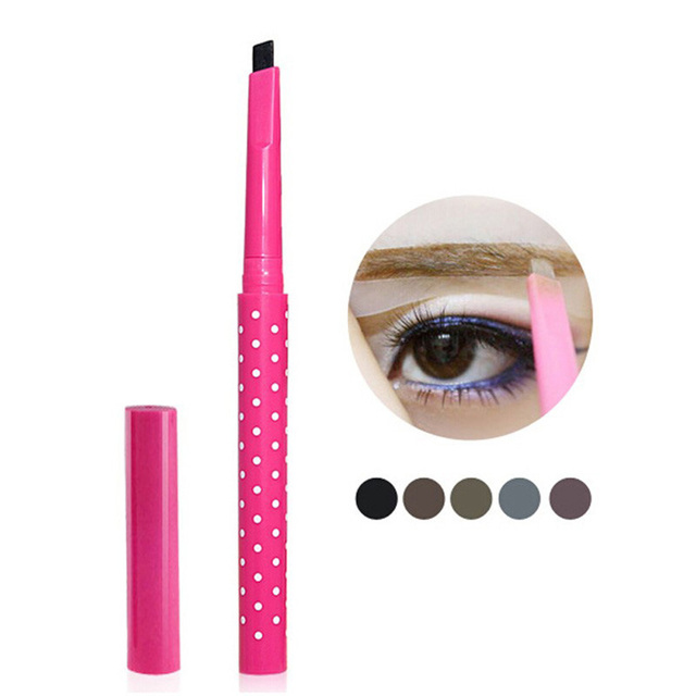Waterproof Automatic Rotating Eyebrow Pencil Cosmetic Eye Brow Pencil Liner Pen 2
