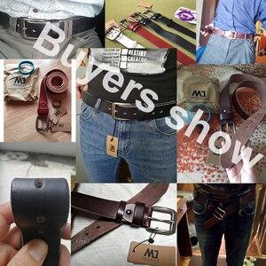 Image 3 - MEDYLA Men Top Layer Leather  Casual High Quality Belt Vintage Design Pin Buckle Genuine Leather Belts For Men Original Cowhide