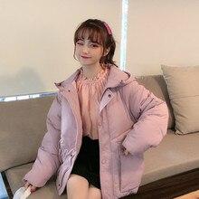 作る冬コート web セレブブリーフ段落ダウンジャケット学生厚い緩い風綿が詰め