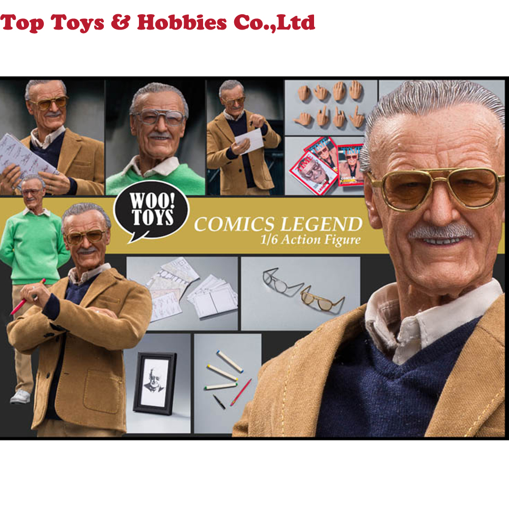 Full set 1/6 Scale WO-001 COMICS LEGEND Stan Old Father 12 inches Action Figure Model Whole Set for Fans Holiday Gift