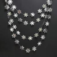 Onederland-guirnalda de copos de nieve de plata metálica y oro para invierno, decoración colgante de pancarta para el país de las Maravillas, decoración de fiesta