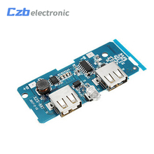 5V 2A Power Bank Charger Board Charging Circuit Board Step Up Boost Power Supply Module Dual USB Output