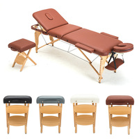 Portable Handy Folding Massage Salon Bench Stool with Handle Spa Salon Facial Beauty Care Chair with PU Leather Seat Cushion