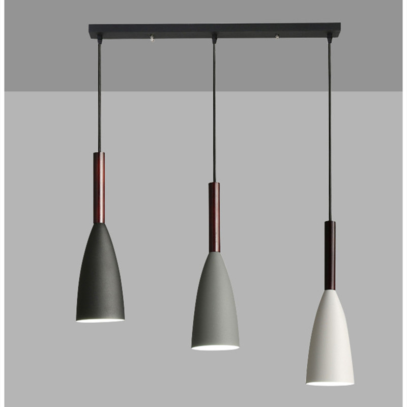 Artpad Nordic Minimalist Pendant Lamp Adjustable Hanging Wire For Living Room Kitchen Cafe 1/3 Heads Hanging Light E27