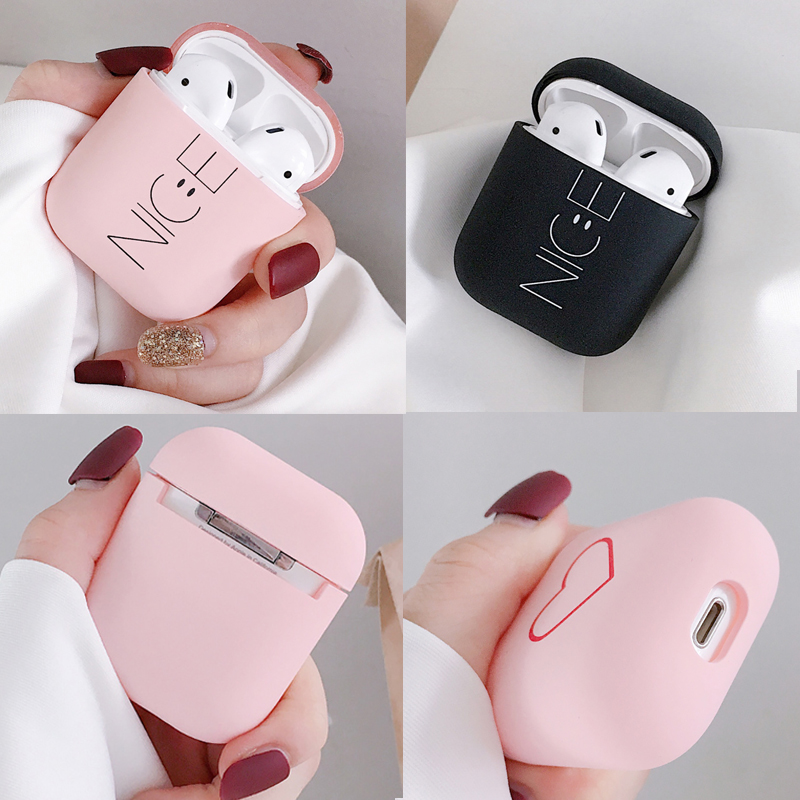 For AirPods Case Scrub Hard Shell Cute Luxury Bluetooth Headphones Skin Protective Cover For Air Pods 2 1 Case