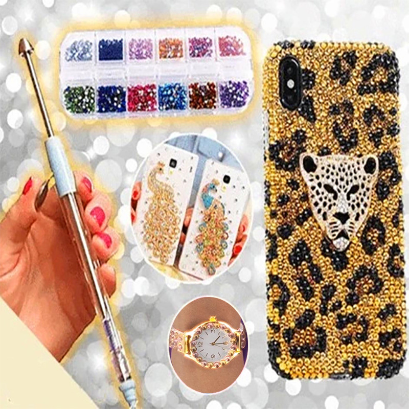 Nail Art Point Drill Pen Rhinestone DIY Painting Manicure Tools Portable For Home Women PAK55