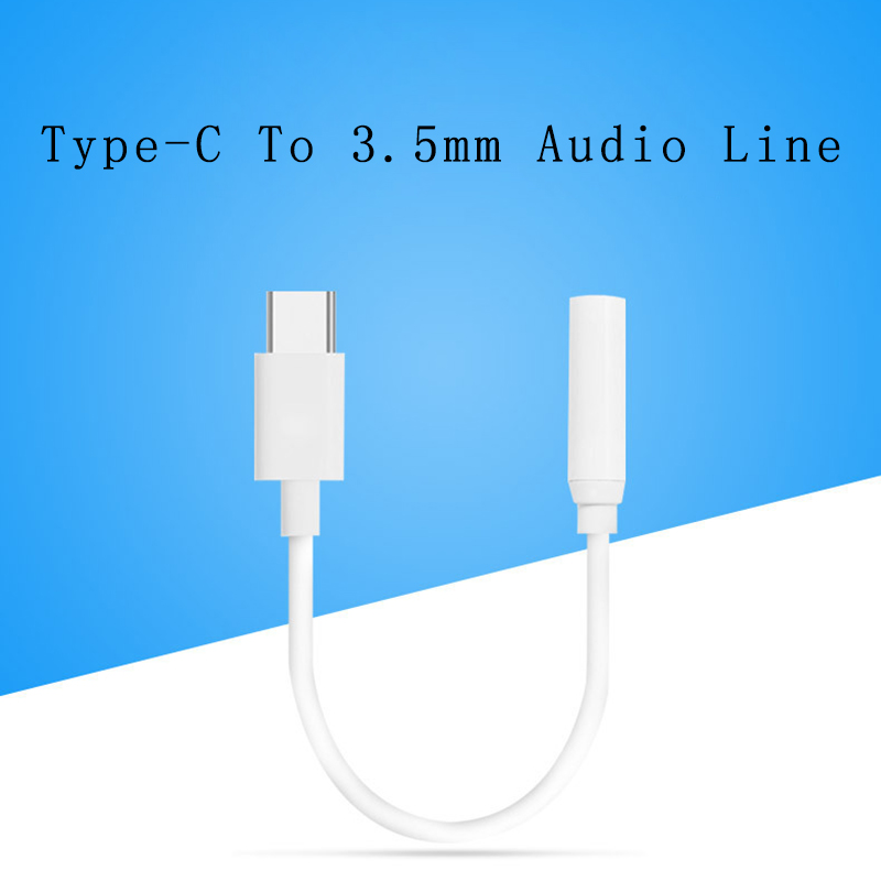 Converter For Xiaomi Type C To 3.5mm Headphone Adapter Universal Android Phone Type-C Cable AUX Earphone Audio Jack Splitter