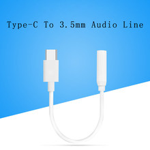 Converter For xiaomi Type C To 3.5mm Headphone Adapter Universal Android Phone Type-C Cable AUX Earphone Audio Jack Splitter(China)