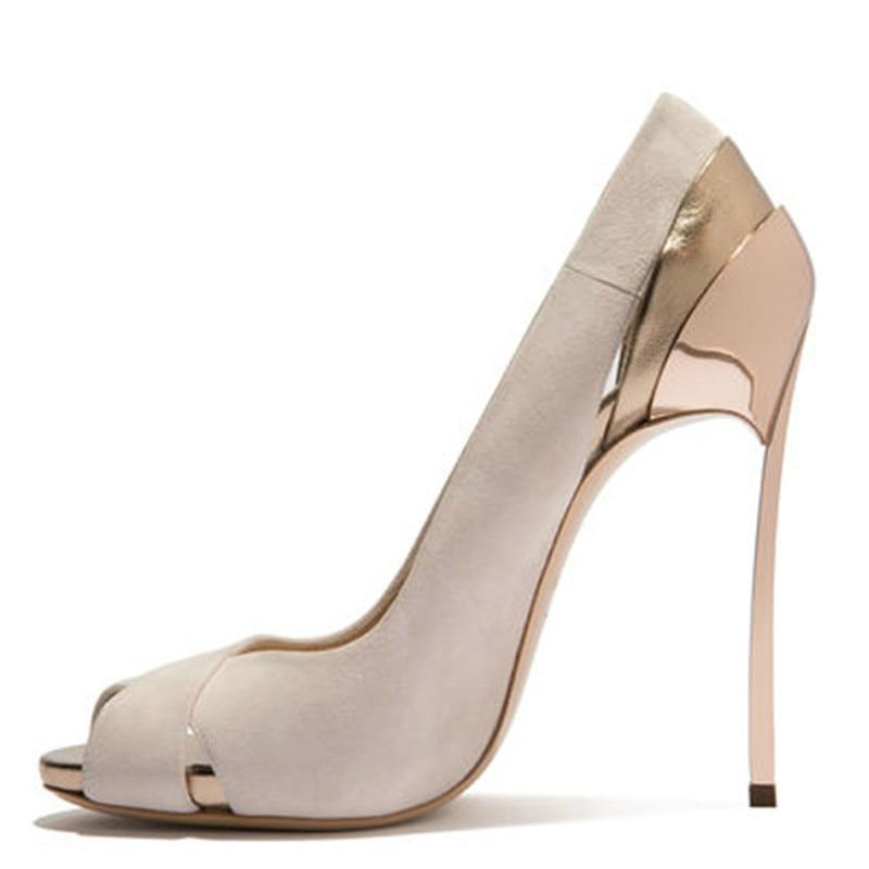 YECHNE Woman Peep Toe High heels Shoes Plus Size 33 43 Prom Valentine Open Teen Hooks Stiletto Party Bridal Pumps