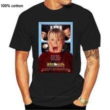 T-shirt 100% coton, tout nouveau, avec ventilateur, affiche de film classique et Vintage, pour Home Alone, Cool 90