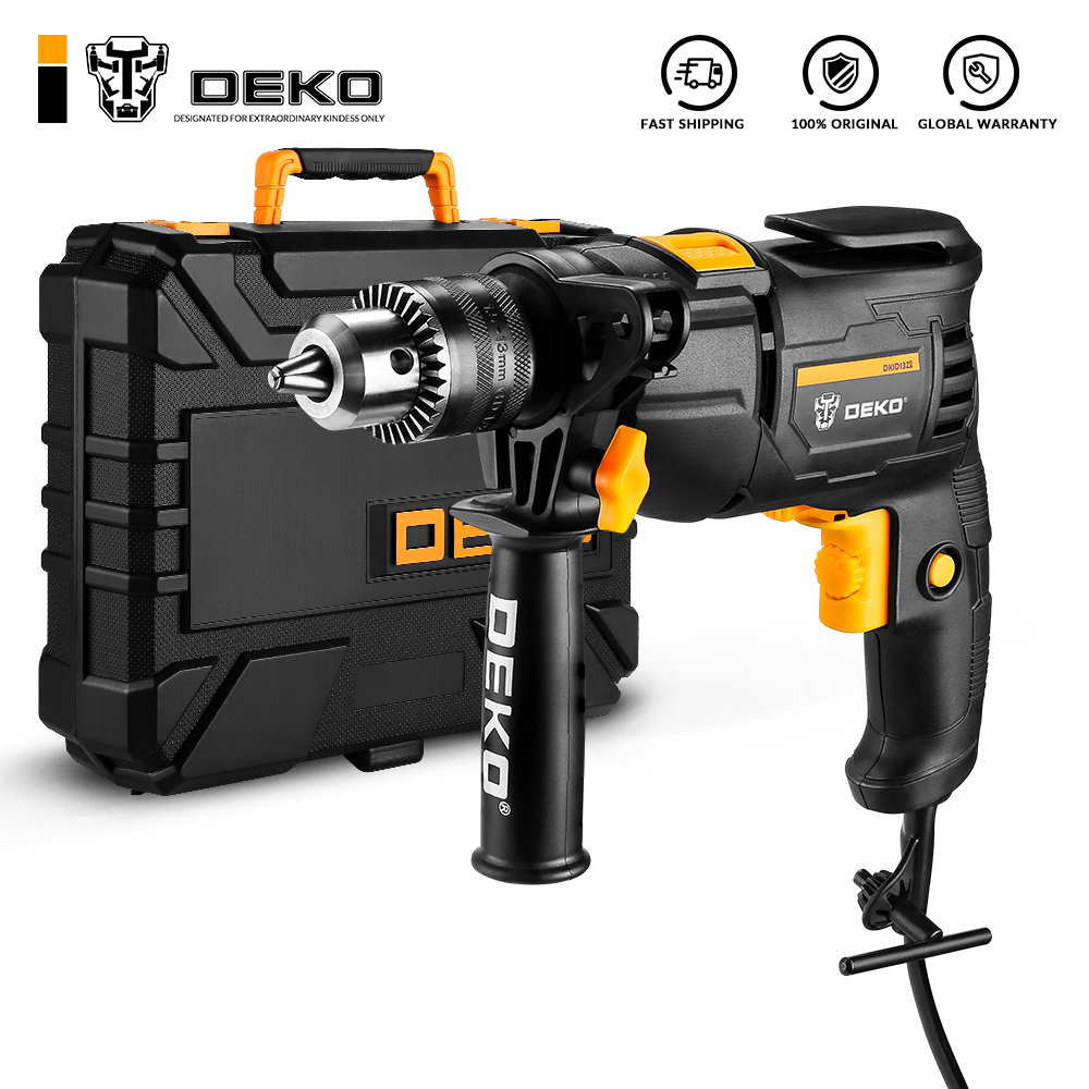 DEKO 220V Electric Screwdriver 2 Functions Electric Rotary Hammer Drill Power Tools Electric Tools DKIDZ Series
