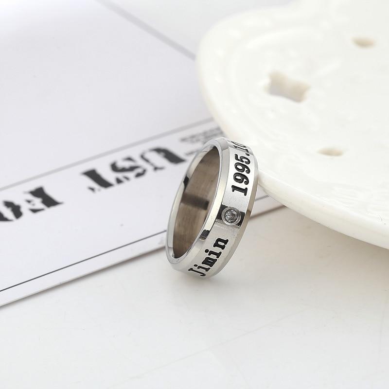 Kpop Bangtan Boys Titanium Steel Rings Birthday Couple JUNGKOOK JIMIN JUNG KOOK V K-pop Bangtan Ring Supplies Stationery Set