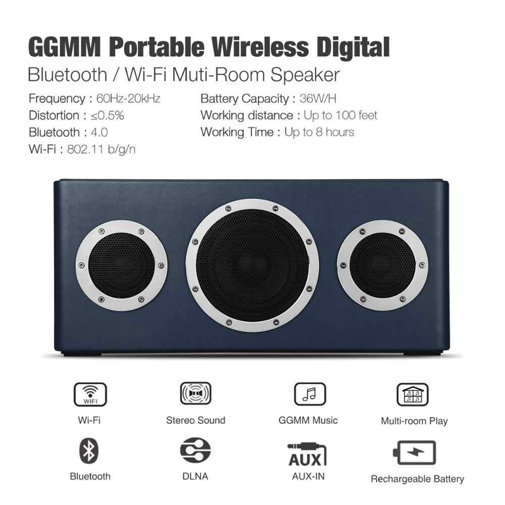 Ggmm M4 Draadloze Wifi Speaker Bluetooth Speaker Mfi Gecertificeerd Draagbare Hifi Lossless Zware Basgeluid Voor Ios Android Windows