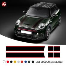 Car Hood Decal Engine Cover Rear Trunk Line Vinyl Bonnet Stripe Sticker For MINI Cooper F55 F56 F57 R56 R57 One JCW Accessories