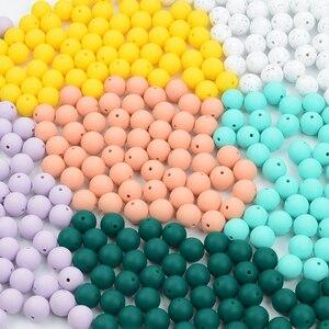 Image 5 - 100pcs 실리콘 Teething 목걸이에 대 한 19MM 라운드 실리콘 구슬 아기 BPA 안전 DIY 실리콘 Teething 구슬에 대 한 음식 학년 구슬