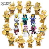 18 stücke Saint Seiya Sammlung Gold Saint Athena Gletscher Japanischen Anime Konstellation Mini Mann Ziegel Blöcke Spielzeug legoing modell