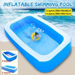 3/4 schichten Kinder Badewanne Baby Zu Hause Verwenden Paddeln Pool Aufblasbare Quadrat Schwimmbad Kinder Aufblasbare Pool 260x160x6 0/72cm
