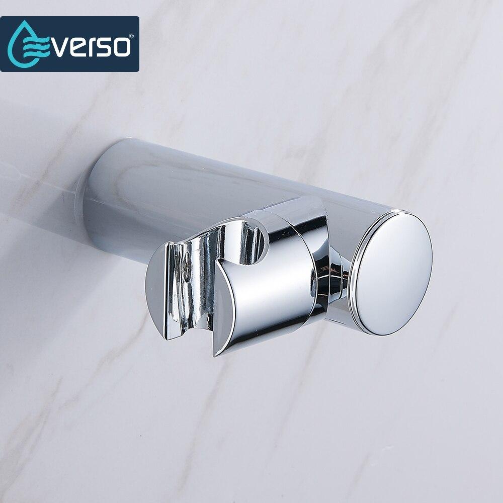 EVERSO ABS Plastic Chrome Wall Mounted Hand Shower Bracket Shower Head Holder Shower Fittings