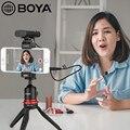 BOYA BY-WM4 Pro Студийный микрофон w передатчики n приемник Lavalier Система микрофона Для беззеркальных DSLR камер смартфонов