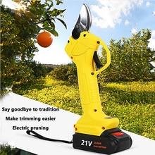 Fruit Tree Pruning Shears Electric Grafting Tool Scissor 16.8V 21V Li-ion Battery Rechargeable Cutting Shear for Garden Farming