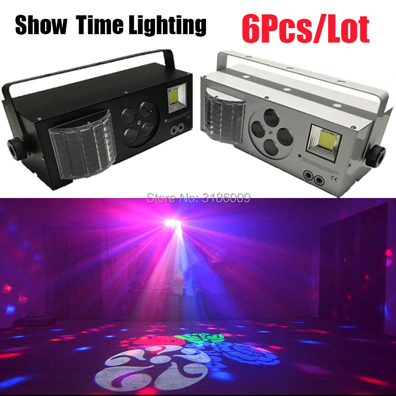 Much Cheaper Full Function LED Laser Pattern Strobe 4 In 1 Effect Dj Light Disco 4 Eyes Image Light Use For Entertainment Party