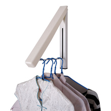 YIWUMART выдвижной скрытый Сушильный Стеллаж один мини настенный бытовой ванной складной вешалка для одежды установка сверления
