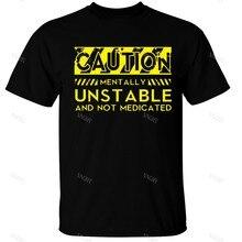 T-shirt pour hommes, avertissement, mots instables, cadeau amusant