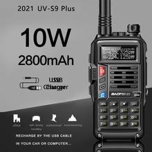 """2021 BaoFeng UV S9Plus עוצמה ווקי טוקי רדיו 8W/10w 10 ק""""מ ארוך טווח נייד רדיו להאנט יער עיר שדרוג 5r"""