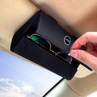 Caja de almacenamiento para gafas de coche, soporte para gafas de sol, para Audi A2, A3, A4, A5, A6, A6L, A8, Q7, TT