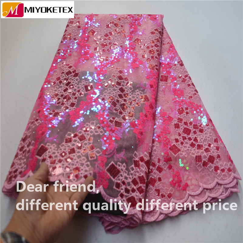 New Arrival African Organza Lace Fabric With Sequins 2019 High Quality French Sequins Lace Fabric For